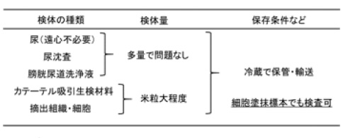 表2.検体の採材・提出方法